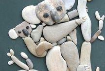animals stones