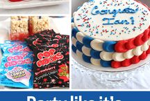 Red, white and blue party! / Celebrate friends and family with great July 4th party ideas.