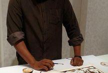 Coffee Art / Dheeraj Gadicherla mesmerised everyone with his unique #coffee #art. #ArtShow #ArtGallery #UniqueConcepts