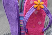 sapatos em feltro