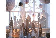 Feiertage und Anlässe / Dekoration Fenster Weihnachten