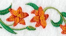 Machine Embroidery - Flowers and Foliage
