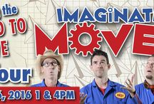 """IMAGINATION MOVERS at The Newton Theatre 11/6/2016 / The critically acclaimed Imagination Movers, Emmy-winning stars of their hit series on the Disney Junior channel, are a rockin' band for families. Over the last decade they have entertained more than a million fans worldwide. They live by their Movers' motto: """"Reach high, think big, work hard, have fun!"""" - which will be evident in their high-energy, interactive live performance. 1pm and 4pm"""