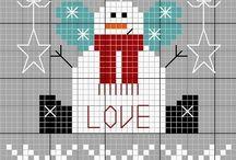 punto croce Snowman