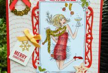Christmas cards and decorations by Jane Middleton / Handmade Christmas cards and decorations