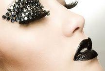 make up - black lips