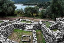 Ancient Stagira in Halkidiki / Ancient Stagira is the birthplace of the great Greek philosopher Aristotle located in Olympiada