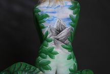 My body painting works / Body painting, make-up. creative arts. female beauty. Love your body.