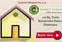 """100 Sq. Yards Residential Plots in Neemrana @8882335577 / 100 Sq. Yard Resiential plots in neemrana  Price""""ten thousand, five hundred"""" (10,500) per sq yard only. booking amount 20% only. plots size minimum 80 sq. yard and maximum depend on you. MORE DETAIL VISIT NOW GennextInfratech.com call now +91 8882335577."""