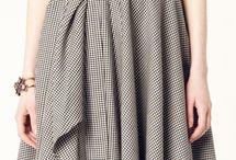 платье с косыми элементами