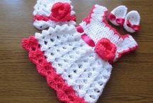 vestido de niñas tejidos