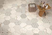 Hexagonale tegels - Carrelage hexagonal / Inspiratiefoto's Photos d'inspiration
