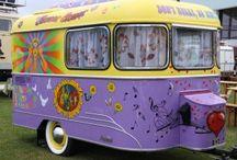 Coole Retro Wohnwagen / retro caravan / Außergewöhnliche, seltene, schöne Wohnwagen aus vergangener Zeit. Eine rollende Zeitmaschine...