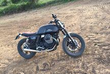 Moto Guzzi v7 brat STYLE Cafe racer scrambler