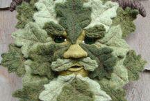 green man and viking tree