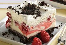 Raspberry Gelato Cake