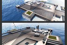 Virtual Architecture Elements - the KOAN sea Terrace / Second Life Building: the KOAN sea terrace - MESH lounge area -------------> http://on.fb.me/1awxmLD