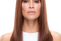 Choose your Wigs with Bang styles & Transform! / Do not forget, your face shape is very important! Bangs have the power to transform your face. If you have a longer face shape, avoid a blunt cut for a more softly shaped style or long side sweep to balance out your naturally angular jawline. If you have a more round face with not-so- distinct cheekbones? Go for a straight- edged short or heavy fringe with longer side pieces to create the illusion of contour.
