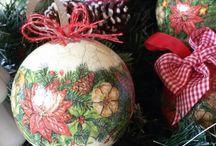 christmas decoupage / Christmas decorations