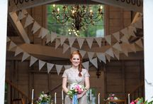 Old Fashioned Farm Wedding / We gathered a group of creative wedding professionals to bring to life an old fashioned wedding on a farm. Rodeo & Co Photo; styling/flowers: By Emily B; Debony Salon/Tarmey Ross; McKaella's Sweet Shop; location: Barn at Hardy Farm