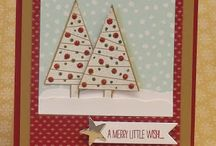 Cartes Festival of trees / Carte stampin Up