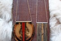 Wooden Jewlery /  Hand crafted wooden jewelry