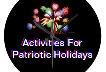 * ✰✰✰ ACTIVITIES FOR PATRIOTIC HOLIDAYS ✰✰✰ / by Dandy Mariella