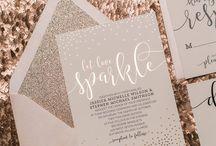 Foiled wedding invites