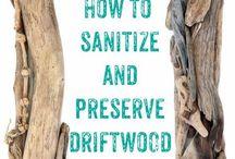 hoe hout goed schoon te maken..dit is een beschrijving voor driftwood