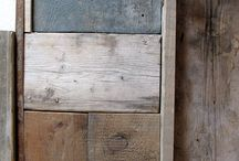 reclaimed wood / frames in upcycled wood