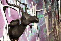 OG Impala 'Onyx' / Faux Urban Taxidermy, sculpture, street art, Wild WestSide, resin, Impala