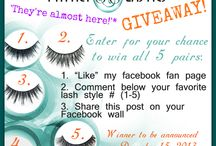 FREEBIE ALERT! GIVEAWAYS and more! / Want'em, gotta have'em!!! Follow this board for Minki Lashes' up-to-date giveaway and contest news and notifications. Want the best of false eyelashes for FREE? How about the most luxurious and natural-looking yet cruelty-free false eyelashes on the market for FREE?!!! Then join Minki Lashes online community of health-conscious and fabulous beauty-craving females from all over the world, and let's learn and play!