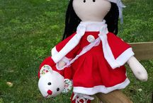 fabric handmade doll