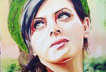 Nuran Kuruoglu / Yağlı boya çalışmam