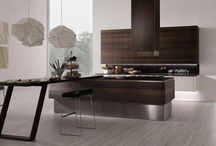 Rational minimalist kitchen and design: raw materials and sophisticated vision.