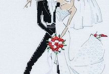 cross stitch - maried coupe, weding