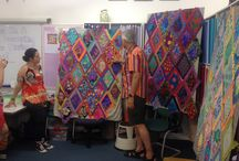 Kaffe Fassett and Brandon Mably patchwork workshops