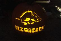 Arkansas Razorback pumpkin