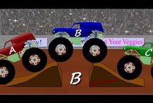 Monster Truck Videos / Monster Truck Videos for kids.  This is an educational video board for children with...all monster trucks!