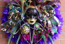 Mardi Gras Wreaths, by IrishGirlsWreaths.com