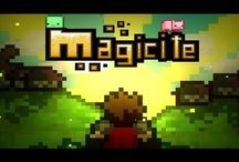 Magicite / Magicite is a 2D Multiplayer RPG Platformer that focuses on Survival, Exploration, Crafting, Epic Loot, and Permanent Death.