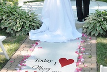 Ideas: For The Ceremony / The #wedding ceremony is the most important part of the day. Be sure to put extra thought into what will be around your altar, aisle, and guest seating. Here is some inspiration to help.
