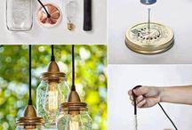 Simples luminária vidros