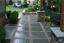 concrete or stone outdoor flooring
