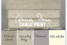 Annie Sloan Chalk Paint / De verschillende kleuren en effecten die mogelijk zijn met Annie Sloan Chalk Paint