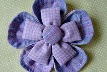 Flor em tecido