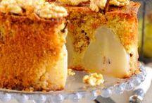 gâteau au son d'avoine et poires