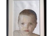 Portrait / Hand stitched portraits from photos
