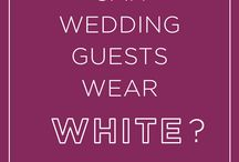 Guests wear white to a wedding