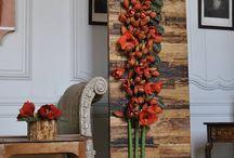 kwiaty  na ścianach
